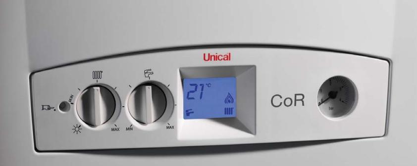 Caldaia Unical Cor 24 kw a condensazione vendita a roma