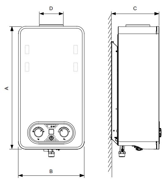 Scaldabagno a gas Bosh Therm 4300 11 litri a camera aperta a roma