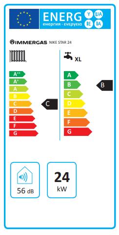 caldaia immergas a roma NIKE STAR 24 a camera aperta etichetta energetica