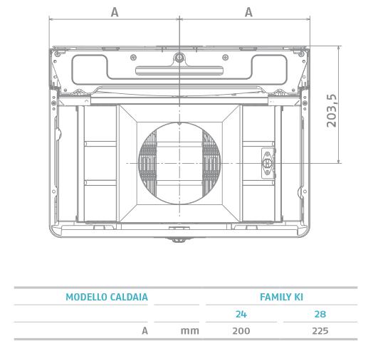 Caldaia Riello Family KI 24 kw a camera aperta collegamenti SCARICO FUMI