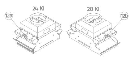 Caldaia Riello Family KI 24 kw a camera aperta dimensioni e struttura 2+