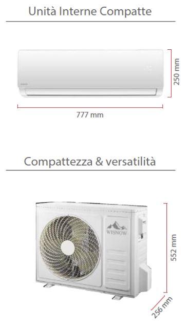 climatizzatore wisnow serie elite a roma dimensioni